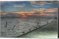 Key West Sunrise Gulls and Pier Fine-Art Print