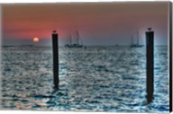 Key West Sunset Two Pilings Fine-Art Print