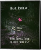 Good Things Come To Those Who Wait Pink Flower Fine-Art Print