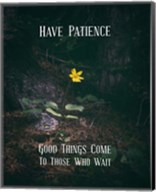Good Things Come To Those Who Wait Yellow Flower Fine-Art Print