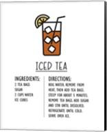 Iced Tea Recipe White Background Fine-Art Print