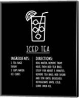 Iced Tea Recipe Black Background Fine-Art Print