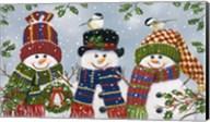 Snowman Trio Fine-Art Print