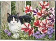Minnie In the Petunias Fine-Art Print