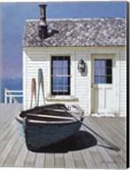 Blue Boat On Deck Fine-Art Print