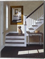 Droste and Dog On Stairs Fine-Art Print