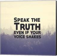 Speak The Truth - Yellow Fine-Art Print