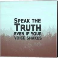 Speak The Truth - Blue Fine-Art Print