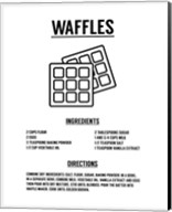 Waffle Recipe Black on White Fine-Art Print