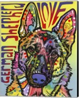 German Shepherd Love Fine-Art Print