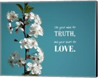 Use Your Mind For Truth - Flowers on Branch Color Fine-Art Print