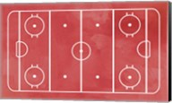 Ice Hockey Rink Red Paint Fine-Art Print