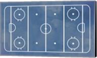 Ice Hockey Rink Blue Paint Fine-Art Print