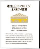 Grilled Cheese Sandwich Recipe White Fine-Art Print