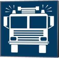 Front View Trucks Set I - Blue Fine-Art Print