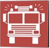 Front View Trucks Set II - Red Fine-Art Print