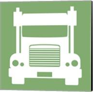 Front View Trucks Set II - Green Fine-Art Print