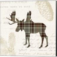 Plaid Lodge IV Tan Fine-Art Print