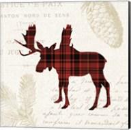 Plaid Lodge IV Fine-Art Print