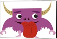 Cute Purple Monster Fine-Art Print