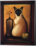 Framed Cat I Fine-Art Print