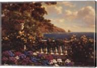 Flower Terrace, Mediterranean Fine-Art Print