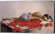 On a Bed of Hibiscus Fine-Art Print