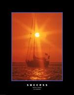 Success - orange sunset Fine-Art Print