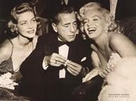 Hollywood Triangle (Bacall, Bogart, Monroe) Fine-Art Print