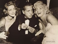 Hollywood Triangle (Bacall, Bogart, Monroe) Fine-Art Print