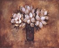 Antique Magnolia I Framed Print