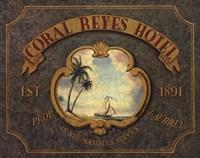 Coral Reyes Hotel Framed Print