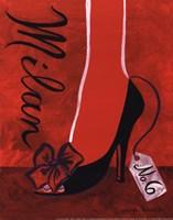 High Heels Milan Framed Print
