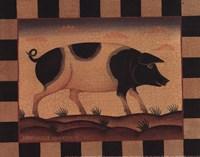 Farm Pig Framed Print