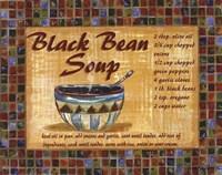 Black Bean Soup Framed Print