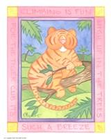 Climbing Tiger Framed Print