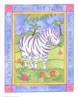 Munching Zebra Framed Print