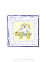 Turtle with Plaid (PP) III Framed Print