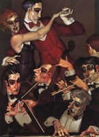 Tango Red Tie Framed Print