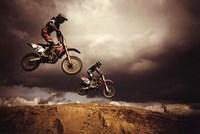Motocross - Big Air Framed Print