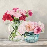 Fleurs et Vases Blanc I Framed Print