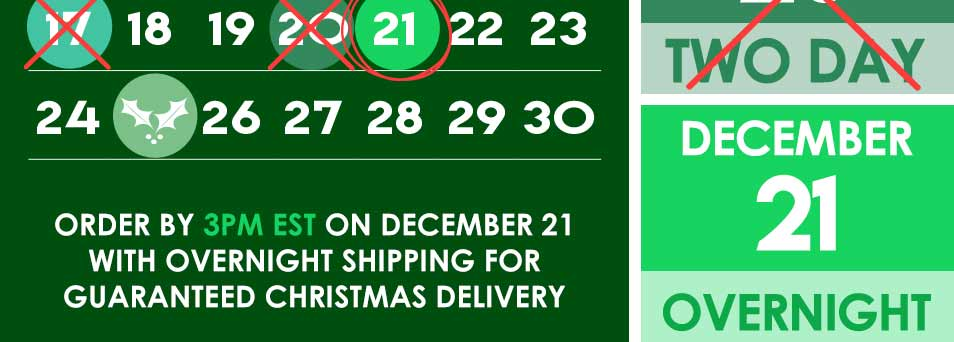 2017 Holiday Shipping Schedule