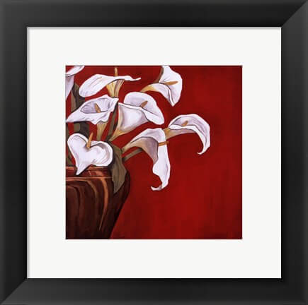Framed Callas on Red Art