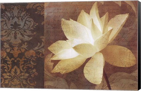 """SINGLE FLOWER ABSTRACT CANVAS 36x24/"""" LETTRE D/'AMOUR II by KEITH MALLETT"""