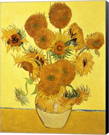 Sunflowers 1888 Yellow Fine Art Print By Vincent Van Gogh