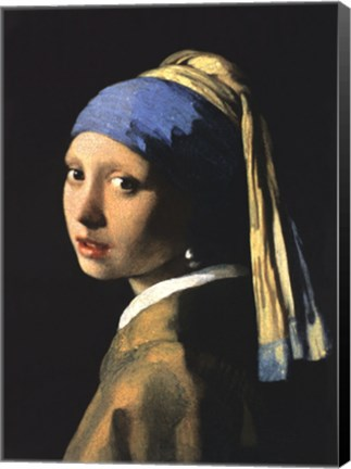 Framed Girl with a Pearl Earring Print