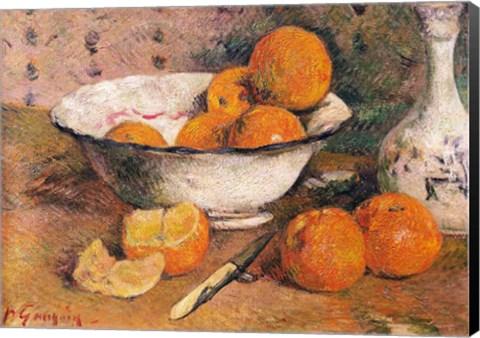 Framed Still life with Oranges, 1881 Print