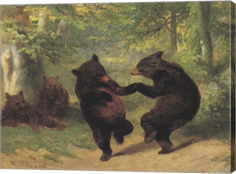 Dancing Bears Fine Art Print By William Holbrook Beard At Canvasgalleryart Com
