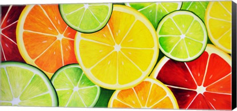 Framed Fruit Slices Print