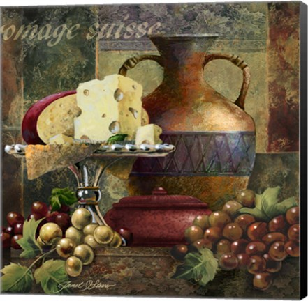 Framed Cheese & Grapes II Print